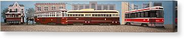 History Of The Toronto Streetcar Canvas Print by Kenneth M  Kirsch