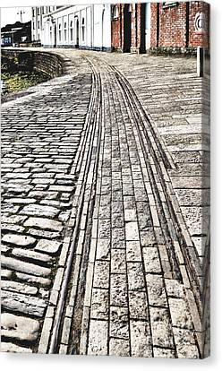 History. Swanage Pier Tramway Canvas Print by Linsey Williams