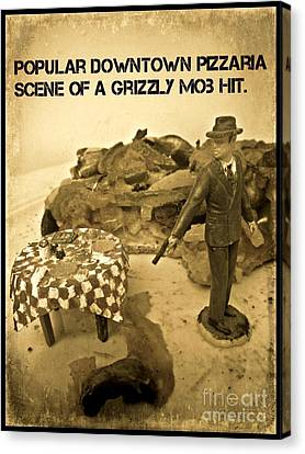 Hit On A Pizza Canvas Print by John Malone