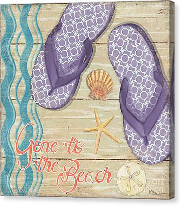 Beach Pails Canvas Print - Hit The Beach I by Paul Brent