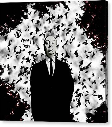 Canvas Print featuring the painting Hitchcock by Jeff DOttavio