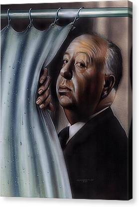 Hitchcock Canvas Print by Timothy Scoggins