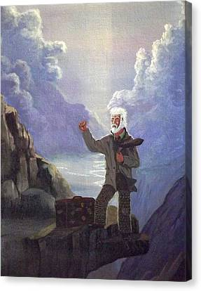 Canvas Print featuring the painting Hitchhiker by Richard Faulkner