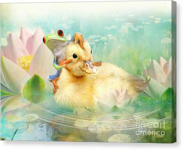 Hitching A Ride Canvas Print by Trudi Simmonds