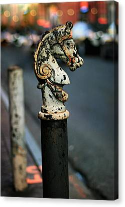 Canvas Print featuring the photograph Hitching Post #1 by Heather Green