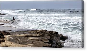 Hittin The Breakers Canvas Print