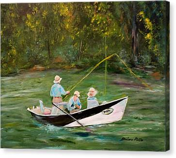 Hiwassee Drifter Canvas Print by Barbara Pirkle