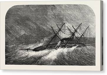 Stormy Weather Canvas Print - H.m. Steam-sloop Lapwing Commander Montagu Oreilly by English School