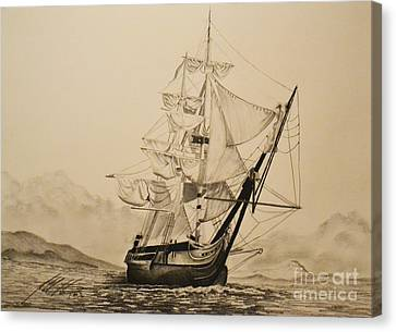 Hms Surprise Canvas Print by John Huntsman