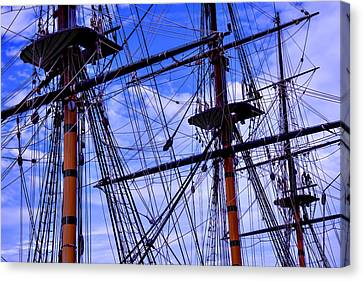 Hms Surprise Rigging Canvas Print by Garry Gay
