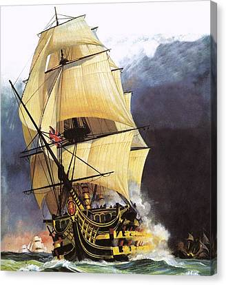 Travel Canvas Print - Hms Victory by Andrew Howat