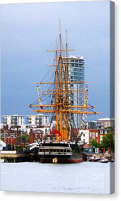 Hms Warrior Portsmouth Canvas Print by Terri Waters