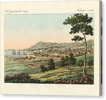 Hobart Town At Van Diemens Land Canvas Print