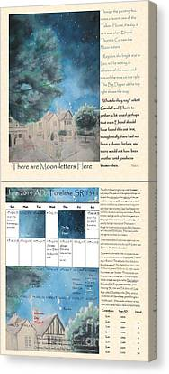 Hobbit Tolkien Faa Hobbit Calendar There Are Moon-letters Here Bi-fold June  Canvas Print by Glen McDonald