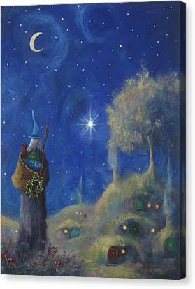 Hobbiton Christmas Eve Canvas Print by Joe Gilronan