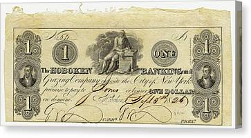 Hoboken Bank Note Canvas Print by American Philosophical Society