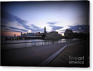 Hoboken Overlooking The Ferry Canvas Print by Paul Ward