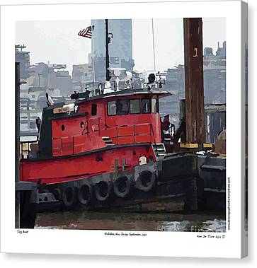 Canvas Print featuring the photograph Hoboken Tug Boat  by Kenneth De Tore