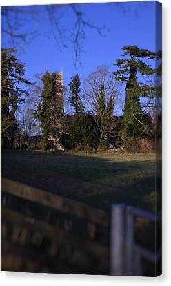 Hockering Church Canvas Print by Dave Woodbridge