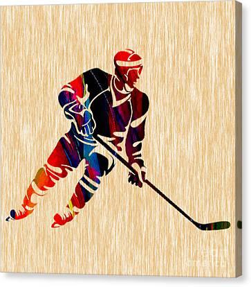 Hockey Player Canvas Print by Marvin Blaine