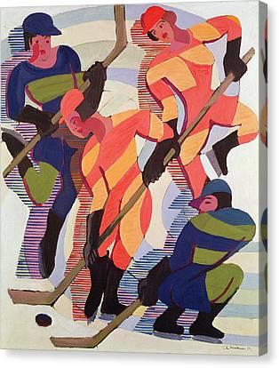 Bold Colors Canvas Print - Hockey Players by Ernst Ludwig Kirchner