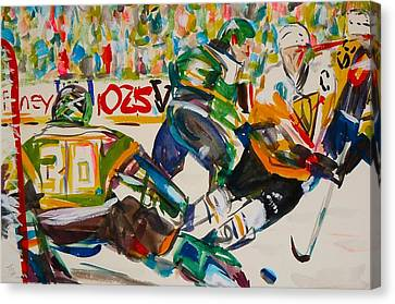 Hockey Canvas Print by Troy Thomas