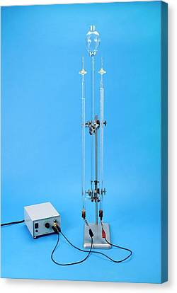 Hofmann Voltameter In Use Canvas Print by Trevor Clifford Photography