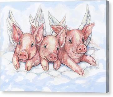 Hog Heaven Canvas Print by Peggy Wilson