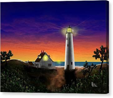 Hog Island Sunrise Canvas Print by Patrick Belote