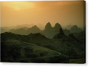 Hoggar Canvas Print - Hoggar Mountains Dawn by Anthony Howarth