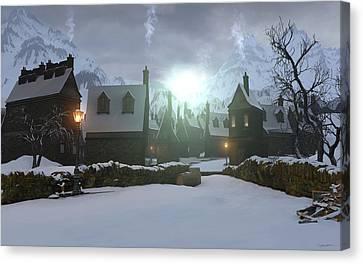 Hogsmeade Canvas Print by Cynthia Decker