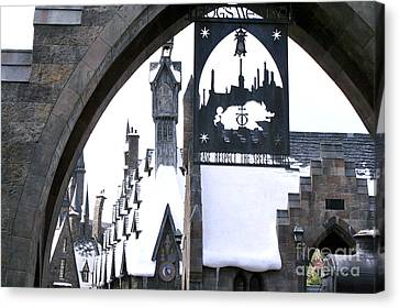 Hogsmeade Sign Canvas Print by Shelley Overton