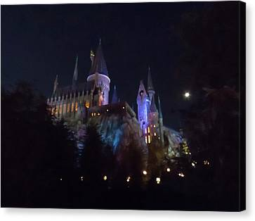 Hogwarts Castle In Lights Canvas Print