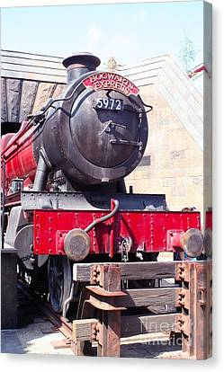 Hogwarts Express Color Canvas Print by Shelley Overton