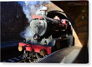 Train Depot Canvas Print - The Hogwarts Express Is Here by David Lee Thompson