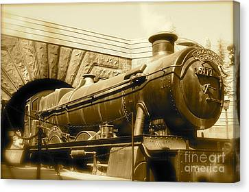 Hogwarts Express Sepia 1 Canvas Print by Shelley Overton