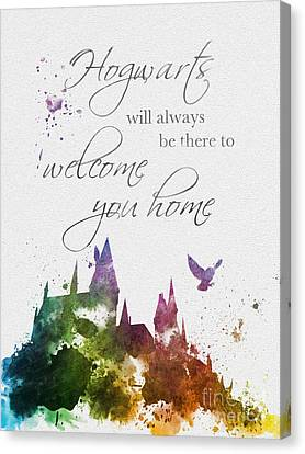 Hogwarts Will Welcome You Home Canvas Print by Rebecca Jenkins