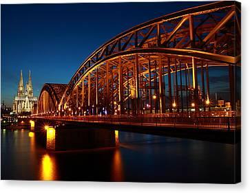 Canvas Print featuring the photograph Hohenzollern Bridge by Mihai Andritoiu