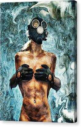 Hold Me If I M Dying 2 Canvas Print by Stelios Kleanthous
