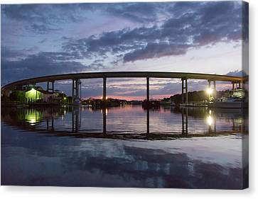 Holden Beach Bridge After Sunset 2 Canvas Print by Alan Raasch