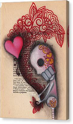 Holding On Canvas Print by  Abril Andrade Griffith