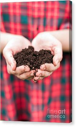 Holding Soil  Canvas Print