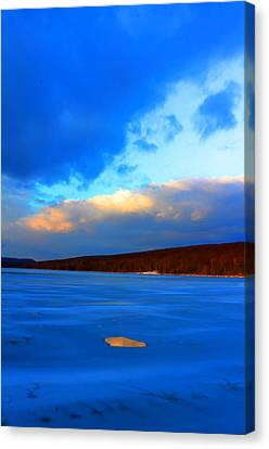 Hole And Sky Canvas Print by David  Jones