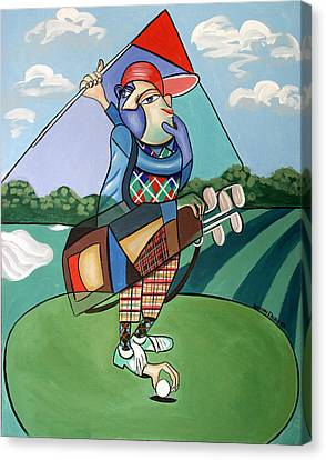 Hole In One Canvas Print by Anthony Falbo