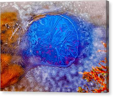 Hole In The Ice Canvas Print by Louis Dallara