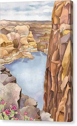 Hole In The Rock Canvas Print by Anne Gifford