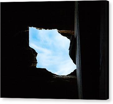 Hole In The Roof  Canvas Print by Gary Heller