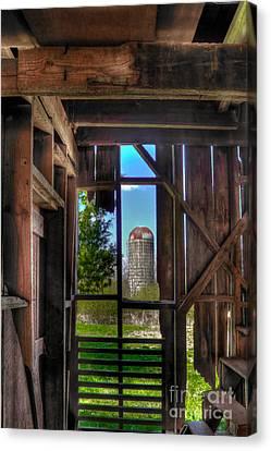 Hole In The Wall 2 Farm Art Canvas Print by Reid Callaway