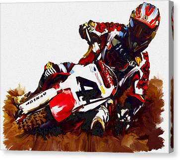 Hole Shot Ricky Carmichael Canvas Print by Iconic Images Art Gallery David Pucciarelli