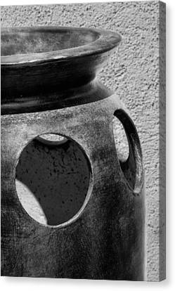 Clay Pottery Canvas Print - Holes In The Wall - Pottery by Nikolyn McDonald